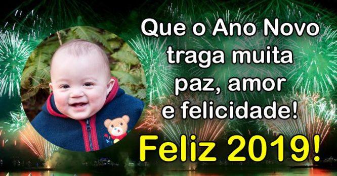 Que o Ano Novo traga muita paz, amor e felicidade