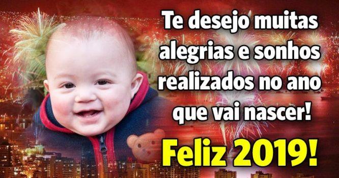 Te desejo muitas alegrias e sonhos realizados no ano que vai nascer